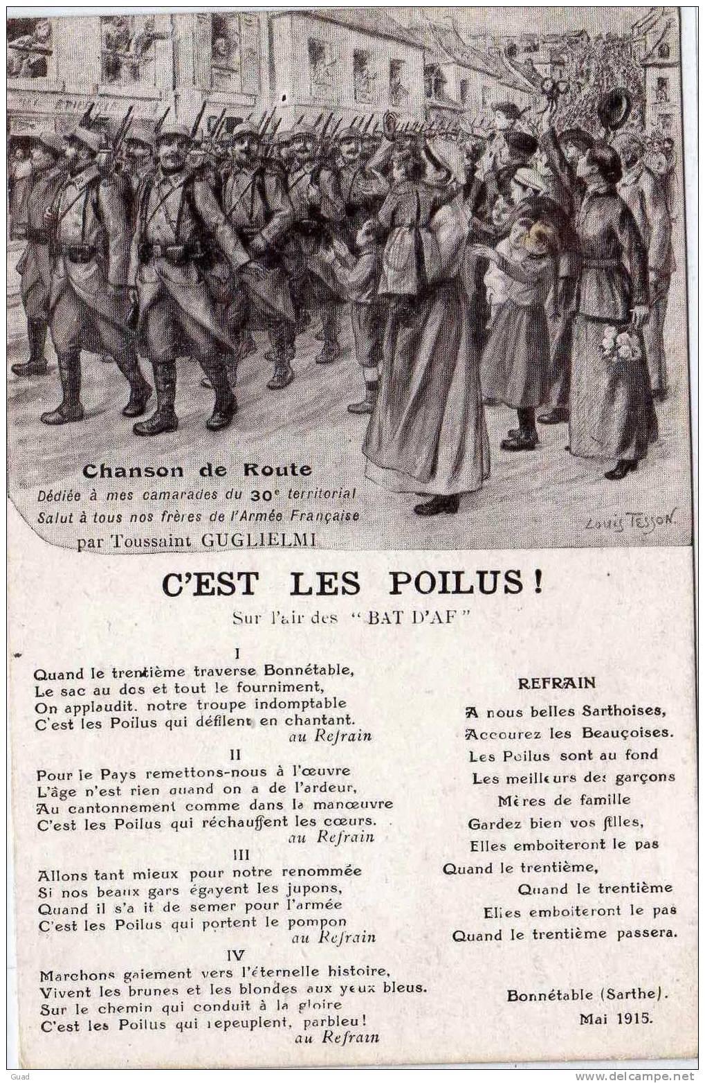 C'EST LES POILUS - CHANSON DE ROUTE - 30° TERRITORIAL - CHARTRES 828_001