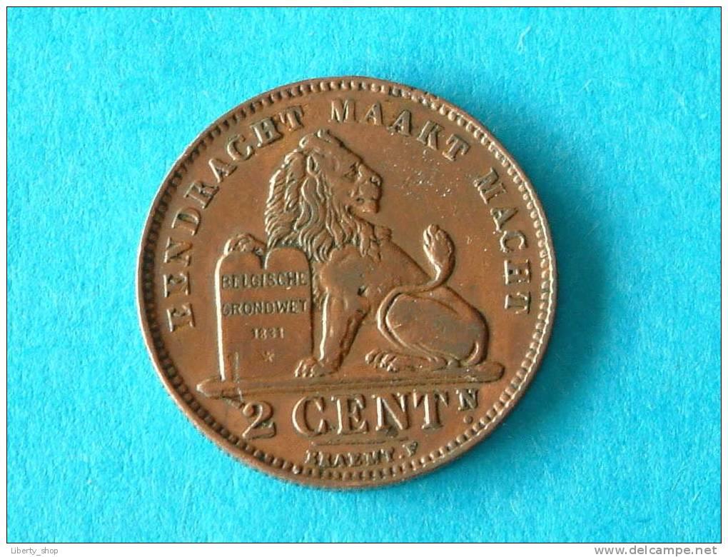 1911 VL - 2 Centiem ( Morin 311 - For Grade, Please See Photo ) ! - 1909-1934: Albert I