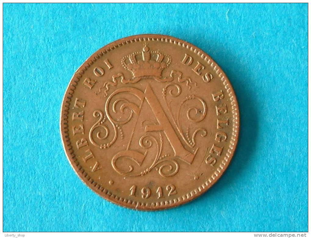 1912 FR - 2 Centiem ( Morin 312 - For Grade, Please See Photo ) ! - 1909-1934: Albert I