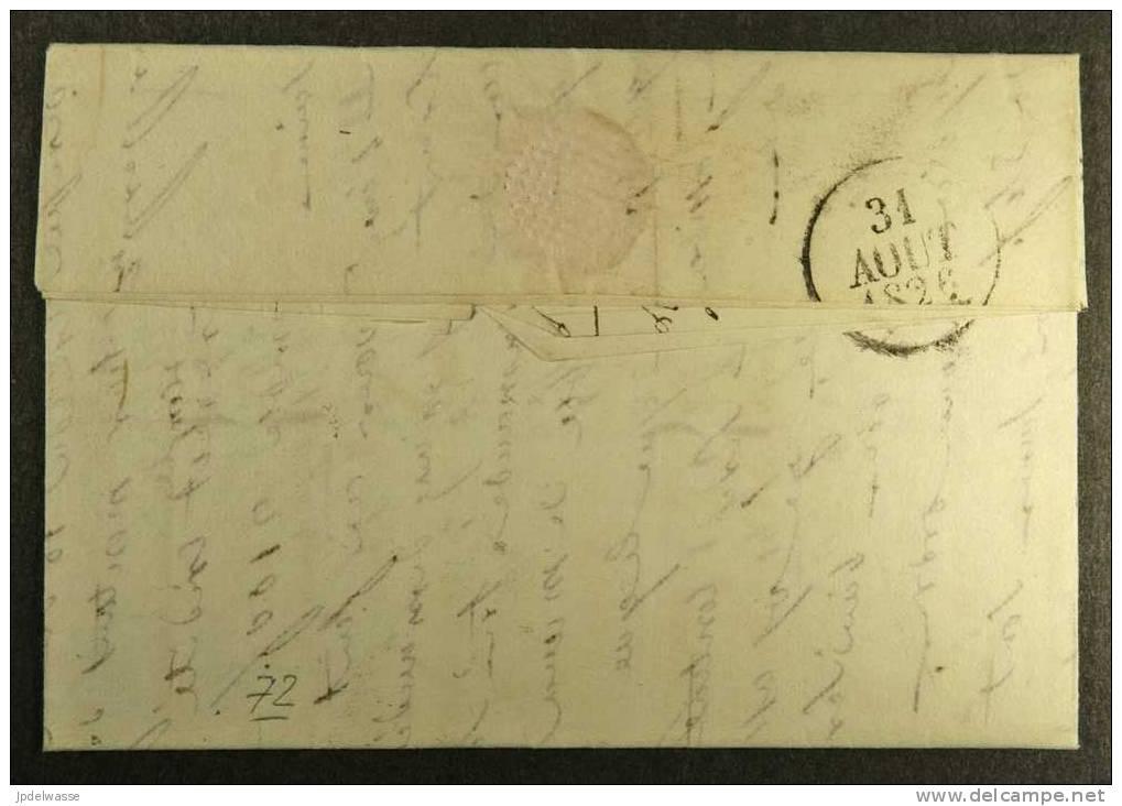 Pli De Prades à Bédarieux Le 28/8/1826 - 1801-1848: Précurseurs XIX