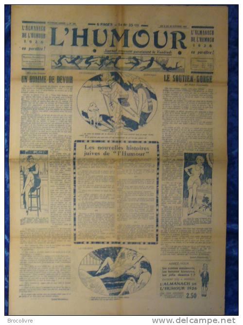 -L´Humour-journal Amusant-Annonces Coquines-Illustrations-N°458-1925- - Unclassified