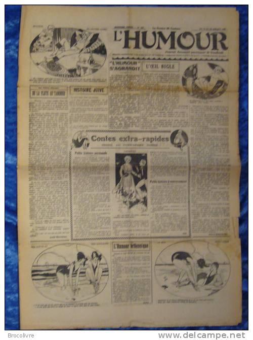-L´Humour-journal Amusant-Annonces Coquines-Illustrations-N°447-1925- - Unclassified