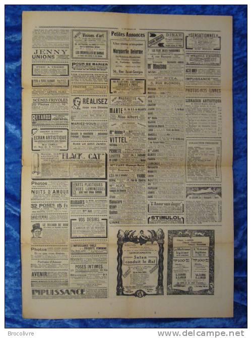 -L´Humour-journal Amusant-Annonces Coquines-Illustrations-N°443-1925-V Spahn- - Unclassified