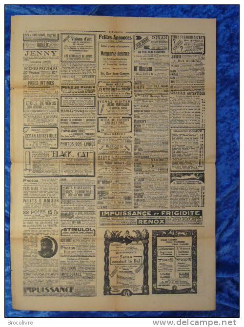 -L´Humour-journal Amusant-Annonces Coquines-Illustrations-N°441-1925-V Spahn- - Unclassified