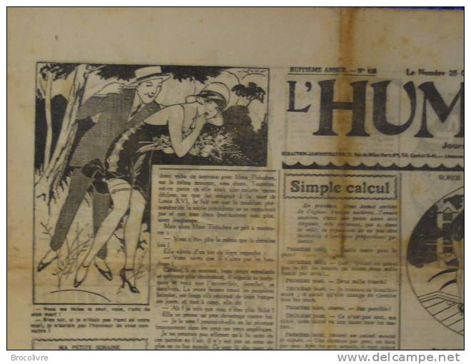 -L´Humour-journal Amusant-Annonces Coquines-Illustrations-N°438-1925-V Spahn- - Unclassified