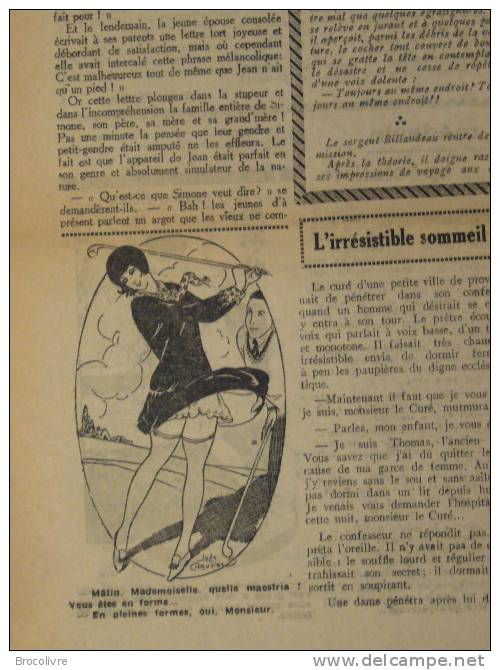 -L´Humour-journal Amusant-Annonces Coquines-Illustrations-N°435-1925-V Spahn- - Unclassified