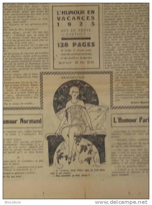 -L´Humour-journal Amusant-Annonces Coquines-Illustrations-N°432-1925-V Spahn- - Unclassified