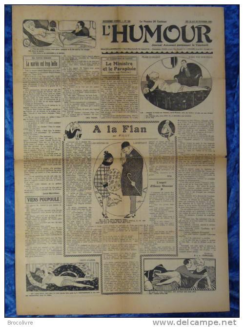 -L´Humour-journal Amusant-Annonces Coquines-Illustrations-N°424-1925-V Spahn- - Non Classificati
