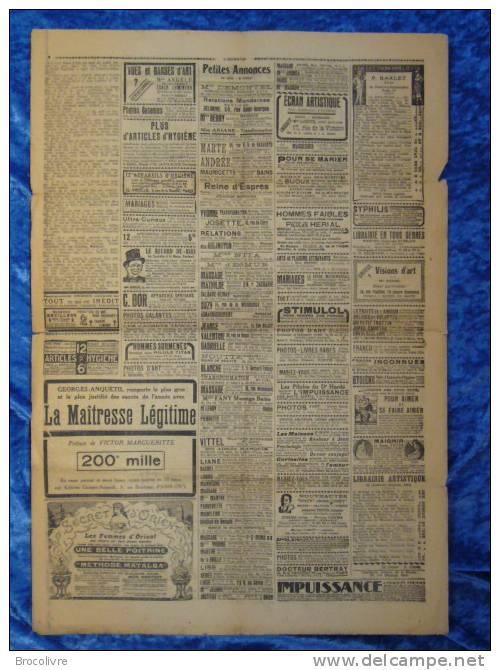-L´Humour-journal Amusant-Annonces Coquines-Illustrations-N°346-1923-V Spahn- - Unclassified