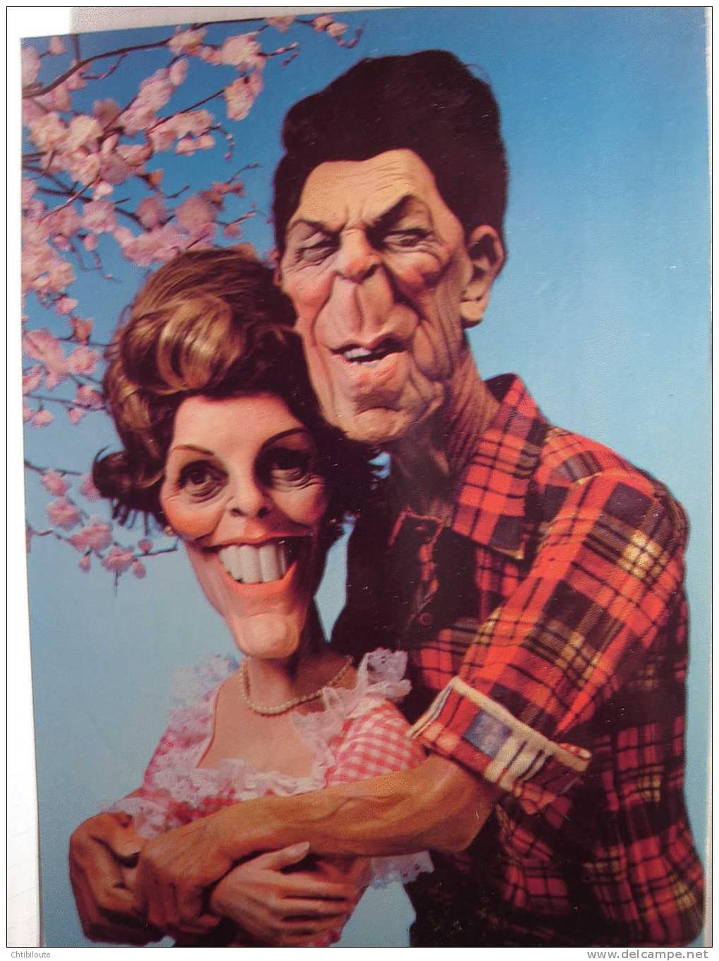 L 1     RONALD  AND NANCY  REAGAN 1981    CPSM  10X15 - Personaggi