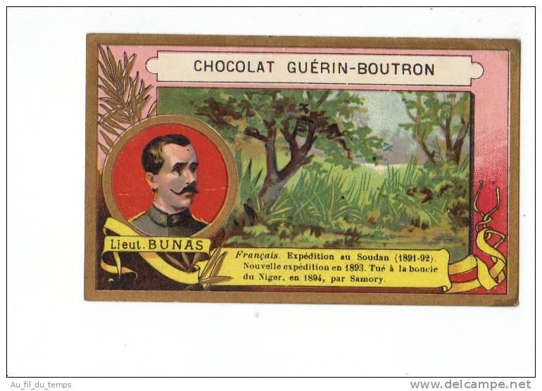 CHROMO CHOCOLAT GUERIN-BOUTRON , EXPLORATEUR FRANCAIS , LIEUTENANT BUNAS - Guérin-Boutron