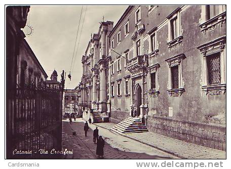 Catania-Via Crociferi-1956 - Catania