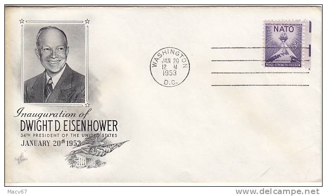 U.S.  Dwight D. EISENHOWER   INAUGURATION COVER 1953 - United States