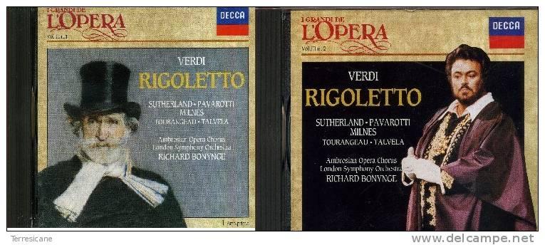 X VERDI RIGOLETTO OPERA COMPLETA 2 CD SUTHERLAND PAVAROTTI MILNES DECCA - Opere