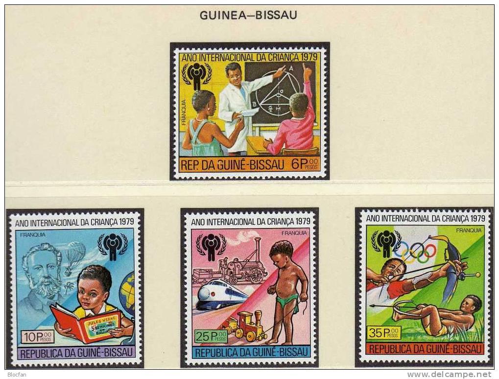 Jahr Des Kindes Schule Und Sport Guinea-Bissau 529/2+ Block 147 ** 11€ - Guinea-Bissau