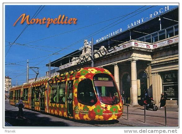 CP34131 - MONTPELLIER - Le Tramway (ligne 2) Devant La Gare Saint Roch - Montpellier