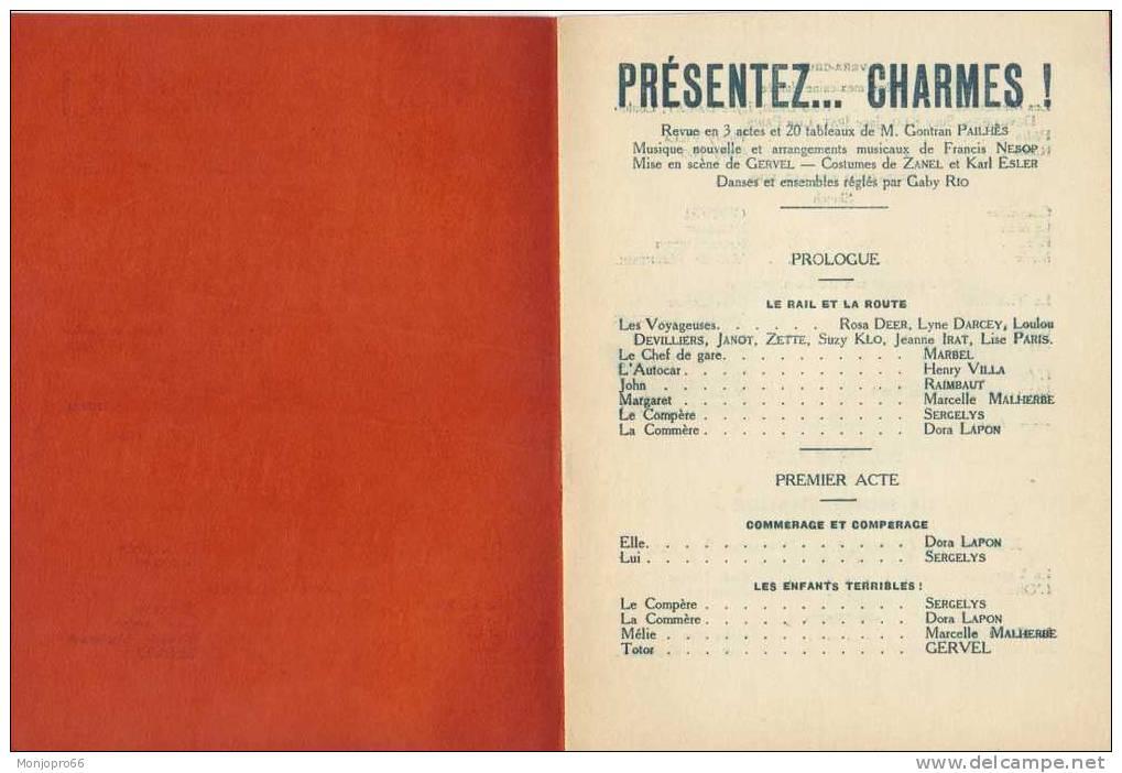 Programme D'une Revue De M. GONTRAN PAILHÈS - Programmi