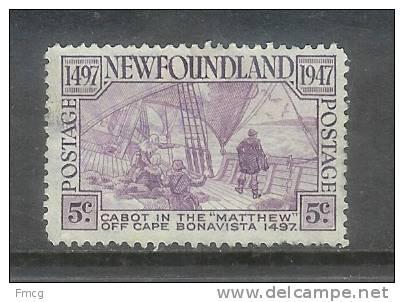 1947 Cabot 5 Cents Used - Newfoundland