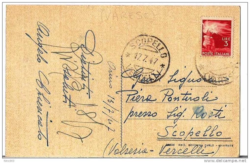 ORINO (VA) - PANORAMA - F/P - V: 1947 - Varese