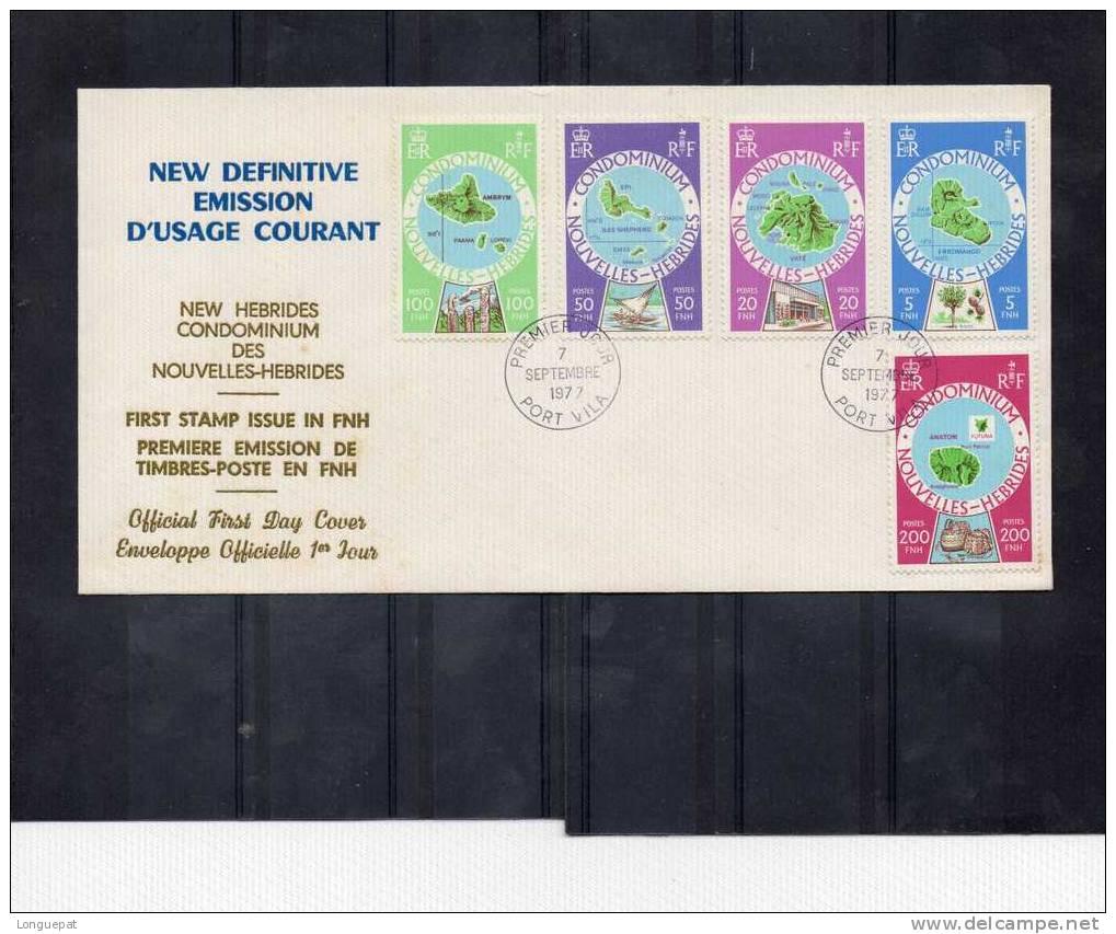 NOUVELLES-HEBBRIDES (VANUATU) :Cartographie Des Différentes Îles - FDC