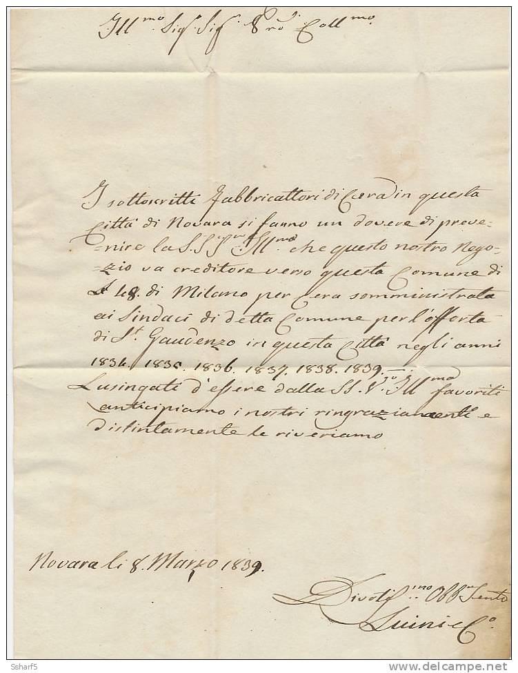 P.P. NOVARA [rosso] + NOVARA [rosso] => SUNO 1839 - Italien