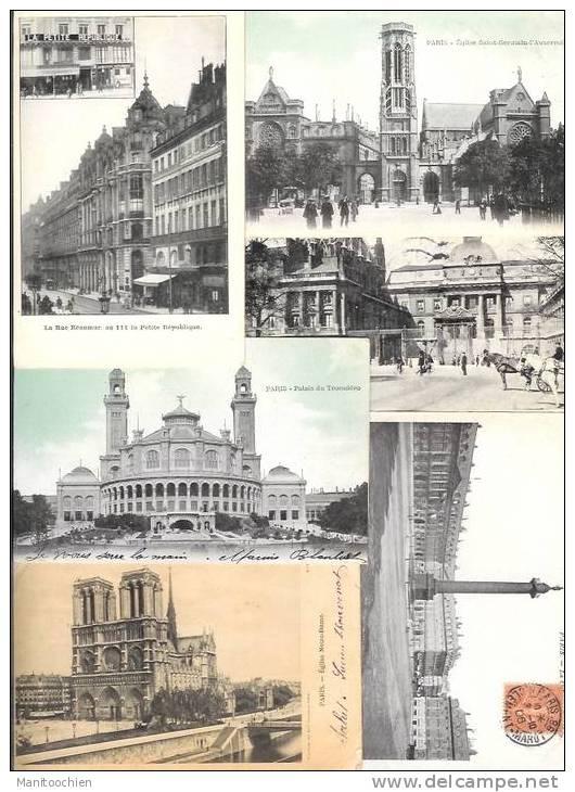 FRANCE PARIS 1 LOT DE 50 CPA - Sets And Collections