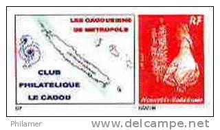 Nouvelle Caledonie Timbre Poste Personnalise Cagou Ramon Oiseau Rouge Prive Cagousiens France Neuf Avec Support 2009 Unc - Nuova Caledonia