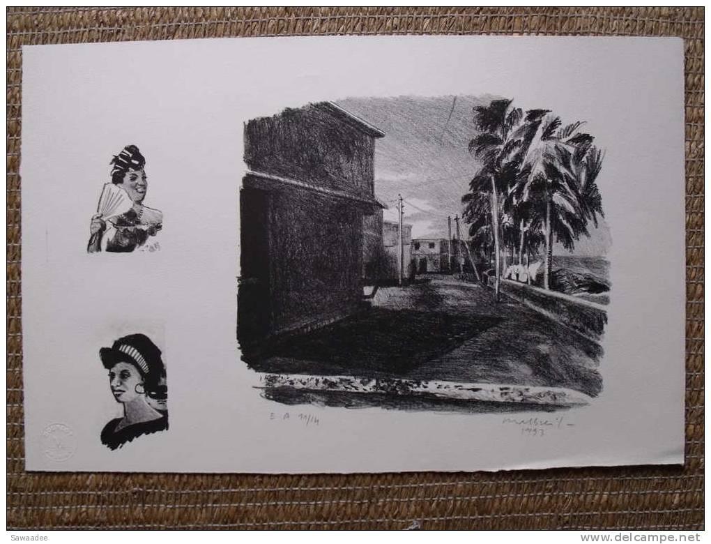 LITHOGRAPHIE - FRANCE - FRANCOIS MALBREIL - E.A. 11/14 - 1993 - LITHOGRAPHE MOURLOT PARIS - Lithographies