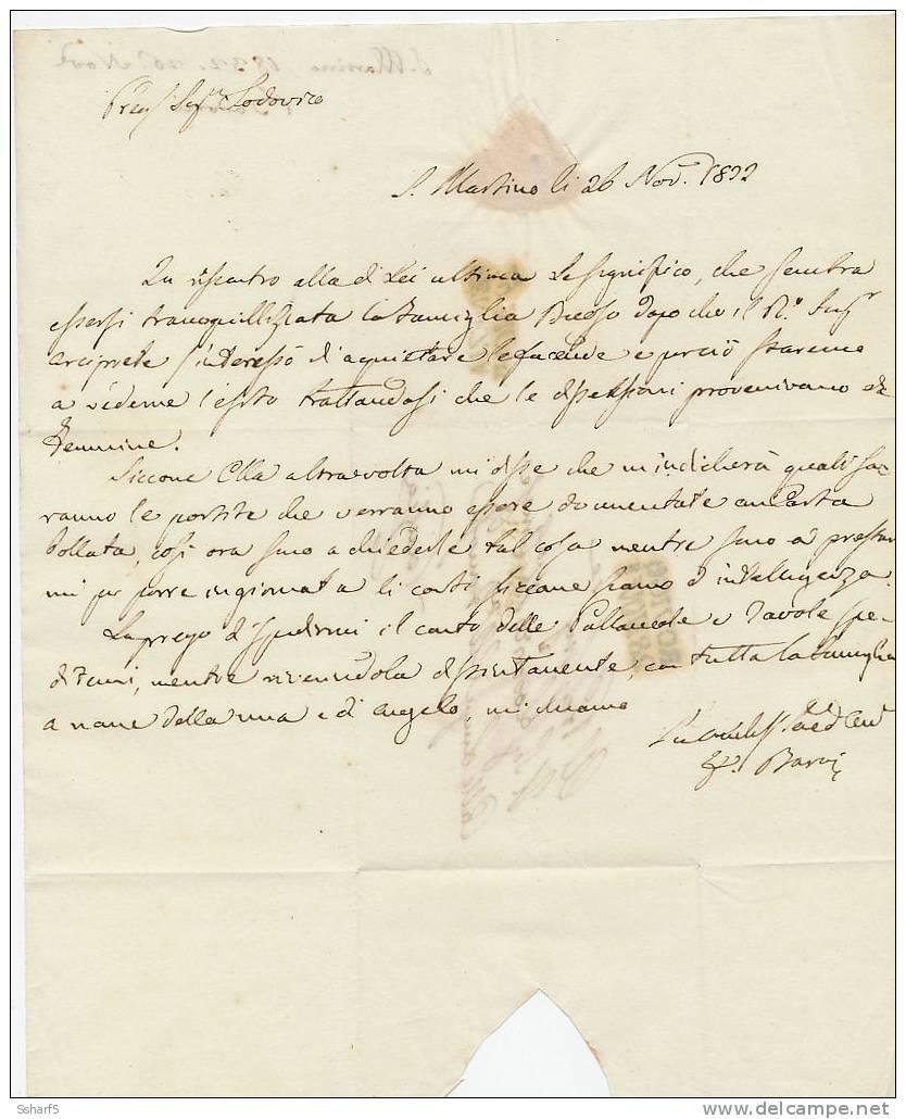 ROVIGO 28 NOVe [nero] 1832 =>  VENEZIA 29 NOVe [nero] - 1. ...-1850 Vorphilatelie
