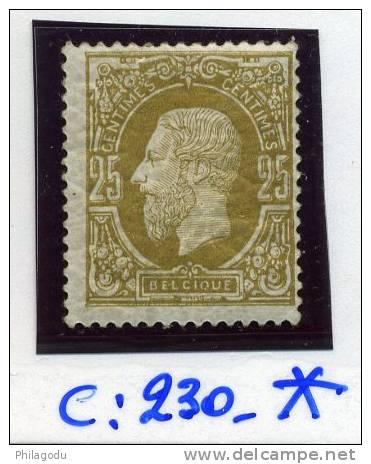 32* Gomme Originale  Vieille Charnière En Papier   Cote 230 E  TRÈS FRAIS - 1869-1883 Leopoldo II