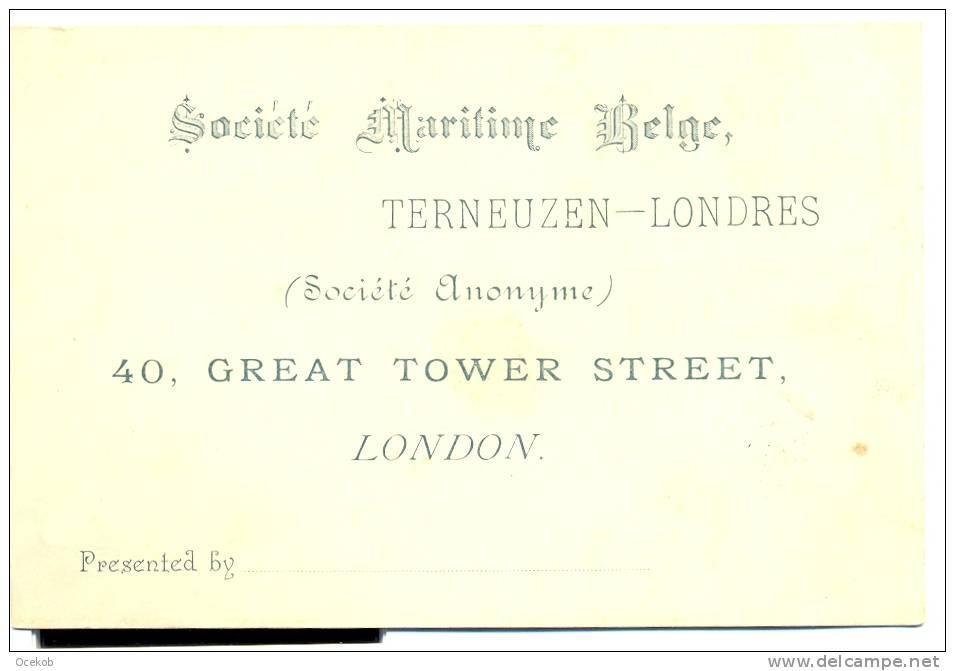 Terneuzen - London - Societé Maritime Belge - Cartes De Visite
