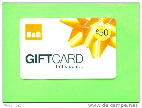 UK - Magnetic Gift Card/B & Q - Other Collections