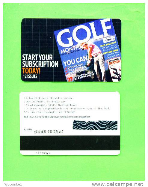 UK - Magnetic Gift Card/Golf Monthly - Other Collections