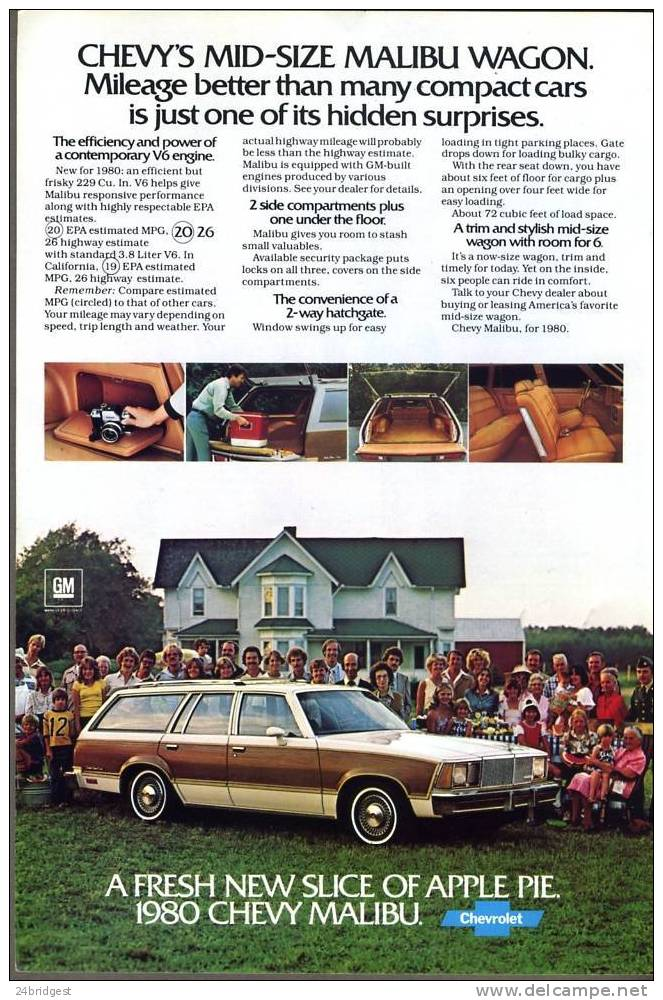 Chevrolet Malibu 1980 Advert - Cars