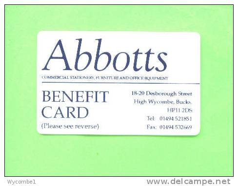 UK - Abbotts Benefit Card - Other Collections