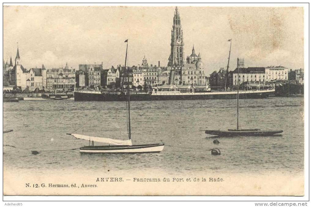 Ca 1910 Antwerpen Anvers Panorama Du Port Et De La Rade Voilier Zeilboot G. Hermans - Antwerpen