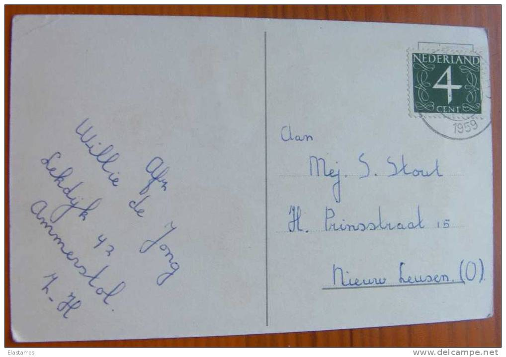 ==  NL - Kinder , 1959  Signiert C - Humorvolle Karten
