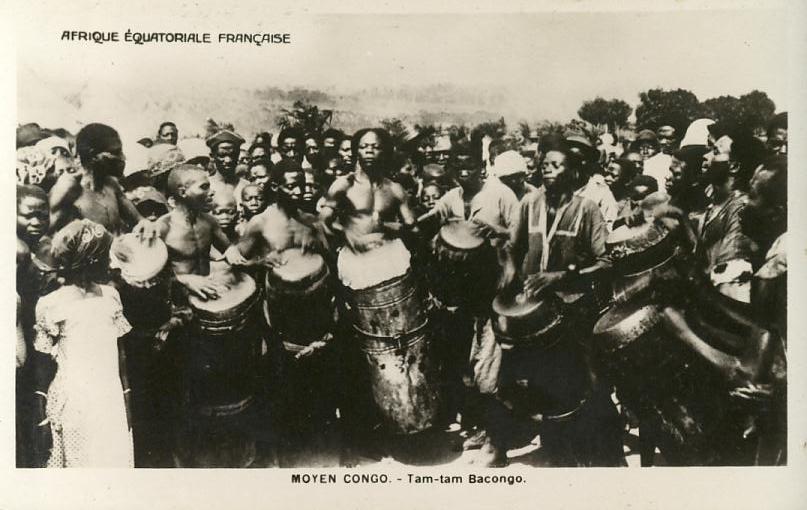 Congo  - Types Ethnies - Musique - Am Tam Bacongo - Congo - Brazzaville