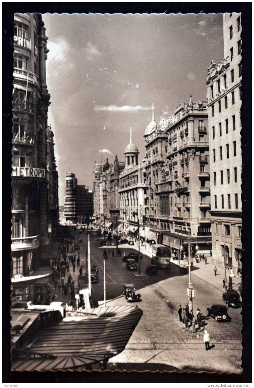 Madrid - Avenida De José Antonio - Vista Parcial - Madrid