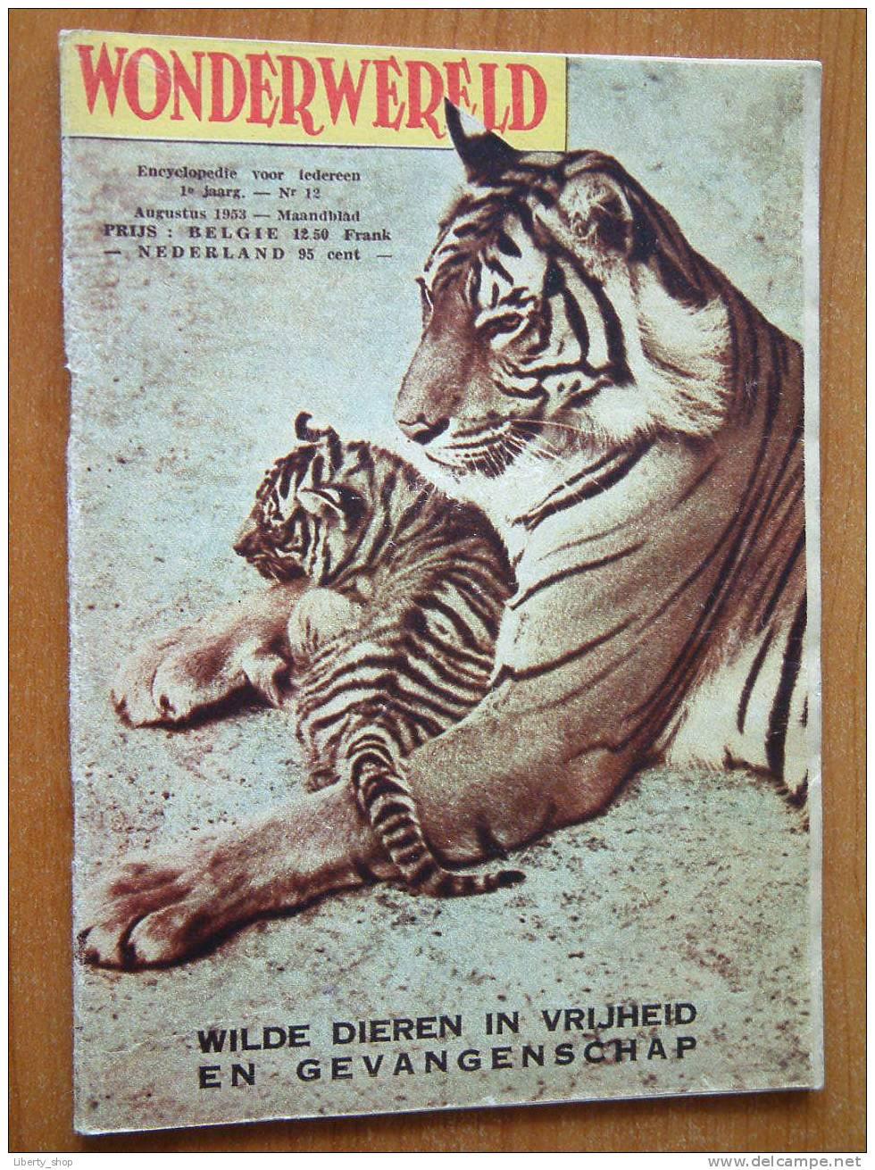 WONDERWERELD 1° Jaargang N° 12 / Augustus 1953 ( Encyclopedie Voor Iedereen ) !! - Encyclopédies