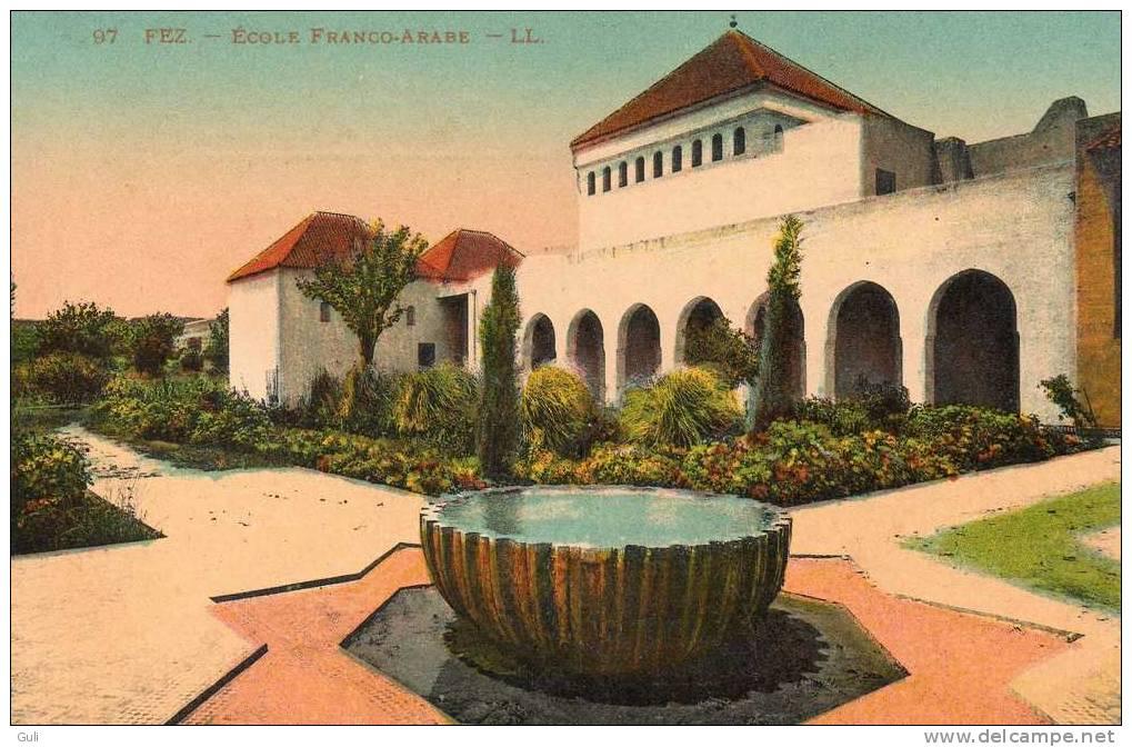 MAROC FEZ  Fès - Ecole Franco Arabe  - Editeur: L-L  N° 97 * PRIX FIXE - Fez (Fès)