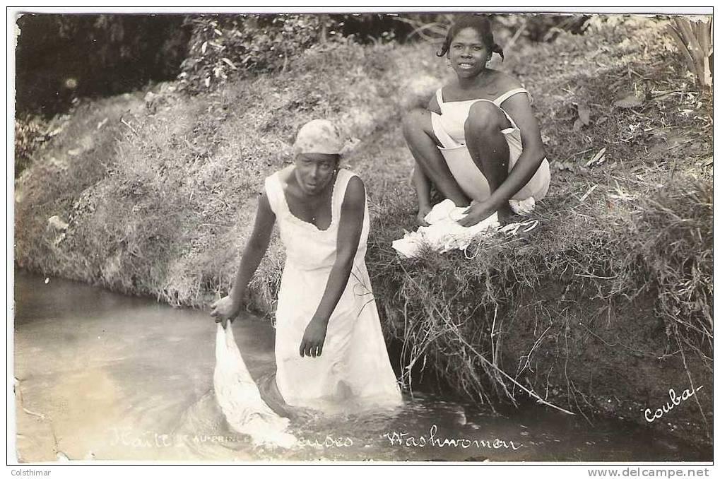 LAVEUSES CARTE PHOTO COUBA - Haïti