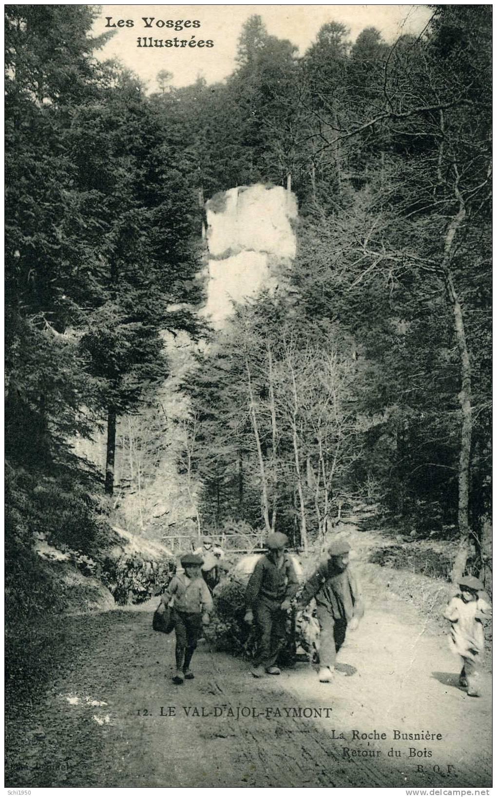 CA - 88 - VOSGES - Val D´Ajol-Faymont - La Roche Busnière - Retour Du Bois - Carte Vierge En L'état - Non Classés