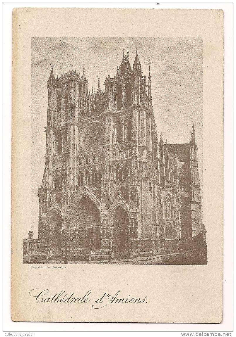 Cp , 80 , CATHEDRALE D'AMIENS , écrite - Amiens