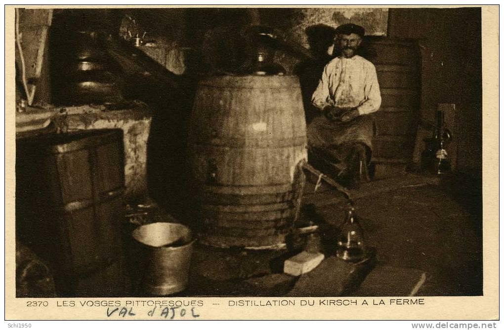 CA - 88 - VOSGES - Val D´Ajol - Distillation Du Kirsch à La Ferme - Carte Vierge - Non Classés
