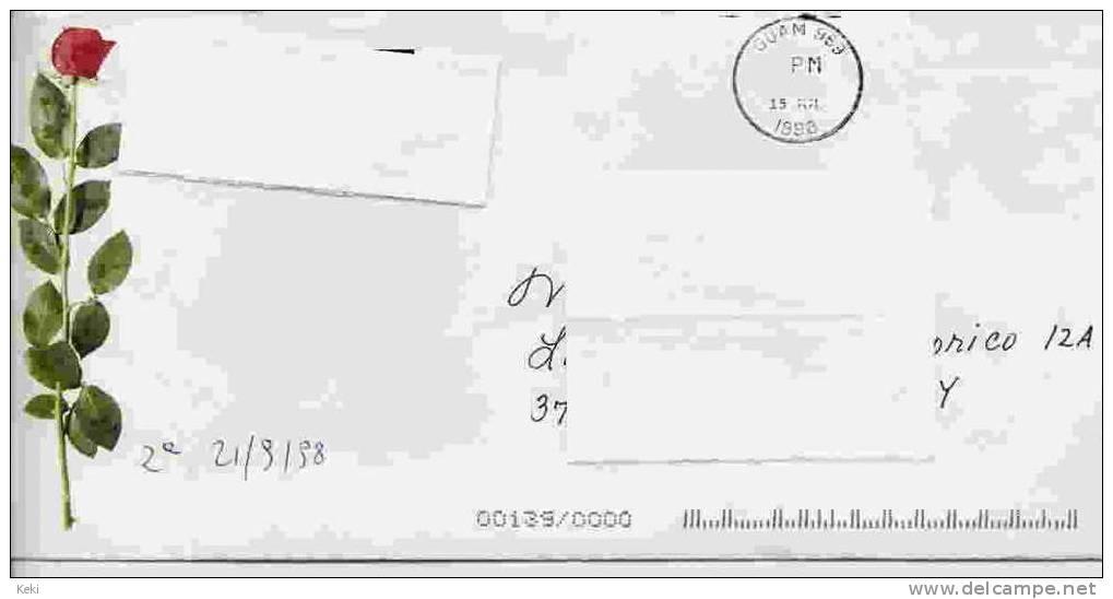 1 Incomplete Cover From GUAM 15.07.1998 To Italy / 1 Busta Incompleta Con Timbro GUAM - Guam