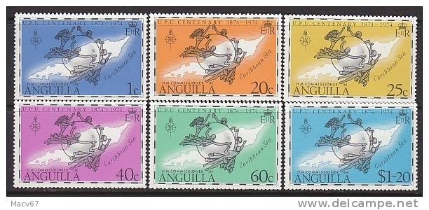 Anguilla 199-204   *  U.P.U. MAP - Anguilla (1968-...)