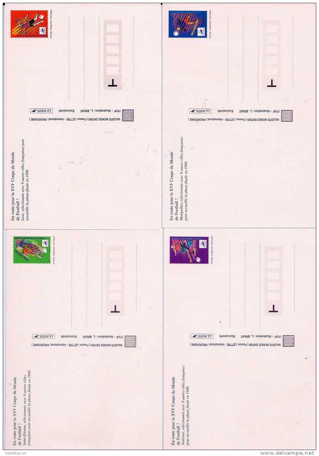 FRANCE - Yvert - Coupe Du Monde De Football 1998 - PAP 3013 CP1** - 4 Cartes Postales - - PAP: Sonstige (1995-...)