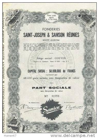 Fonderies Saint-Joseph & Samson Réunies - Couvin - Industrie