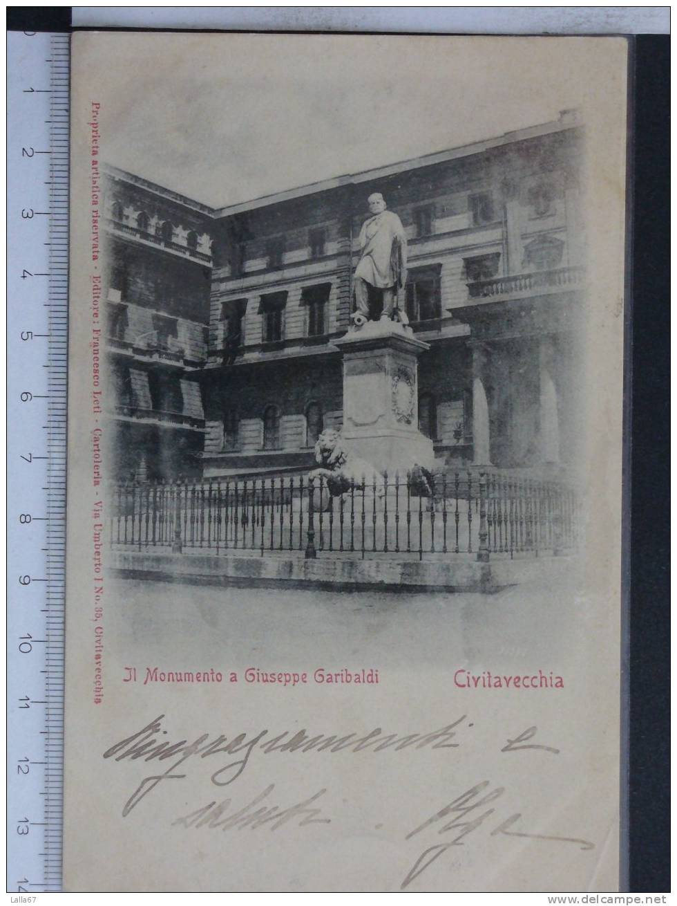 CIVITAVECCHIA -MONUMENTO A GARIBALDI N. 4013 - Storia